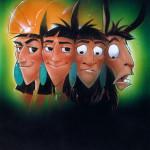 Kuzco's Transformation - original production color concept art
