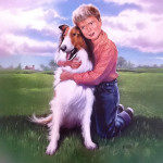 Lassie & Timmy  - original production color concept art