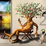The Wizard of Oz art: Bark, Apple and Lunch by Daniel Killen
