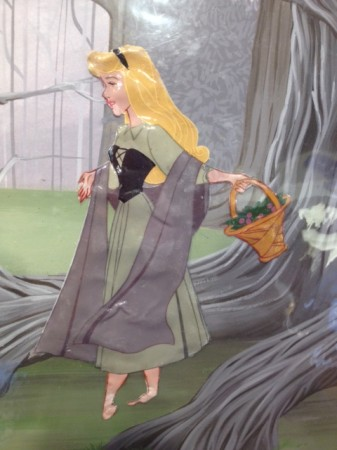 "Damaged double laminated cel--a rare example of a vintage piece sold from ""The Disney Art Program"" between 1973-1986."