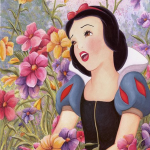 Snow White Love in Full Bloom - Treasures on Canvas