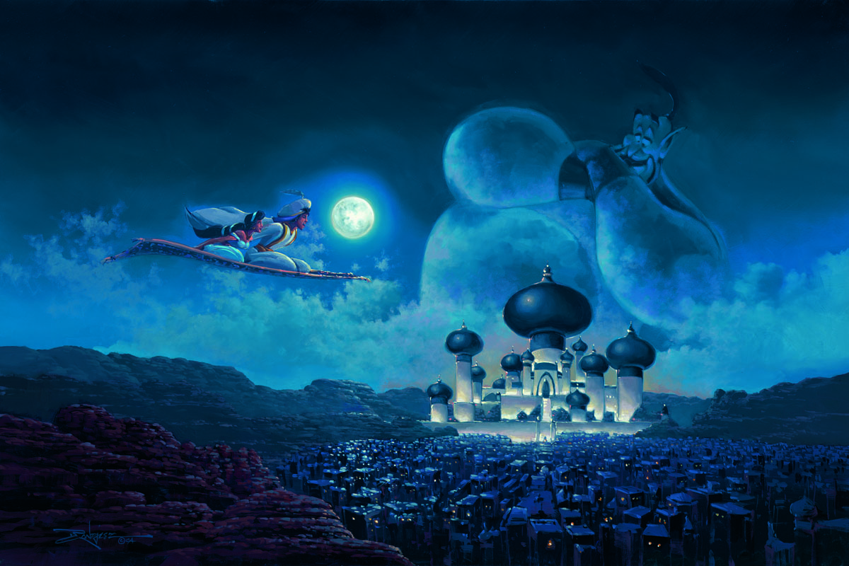 Flight Over Agrabah by Rodel Gonzalez
