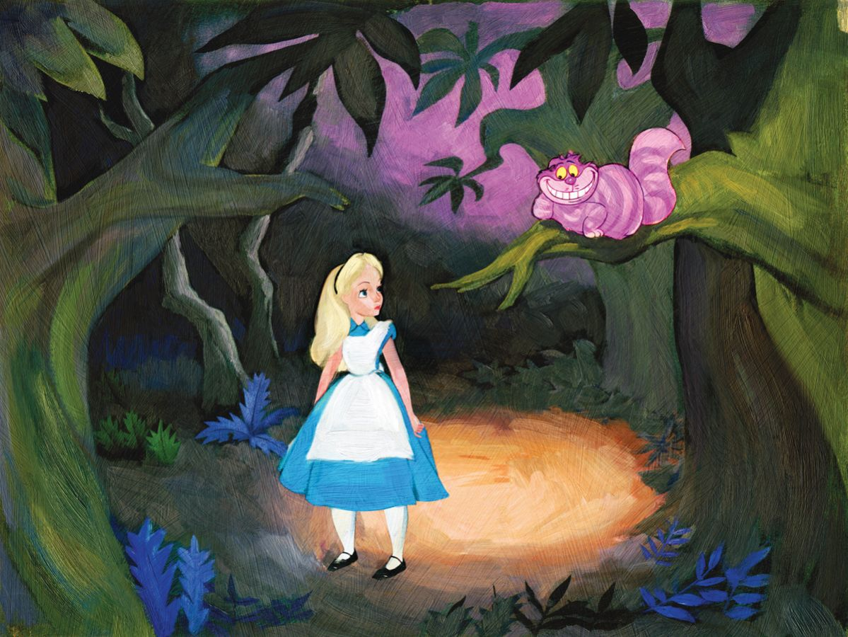 The Cat Only Grinned Alice in Wonderland Giclee by Jim Salvati