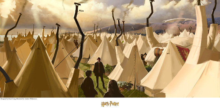 Harry Potter Quidditch World Cup Tents ... & Harry Potter: Quidditch World Cup Tents Giclee on Paper by Stuart ...