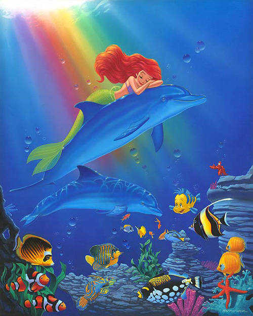 Underwater Dreamer Embellished Giclee on Canvas by Manny ...