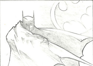 Batman original production concept art