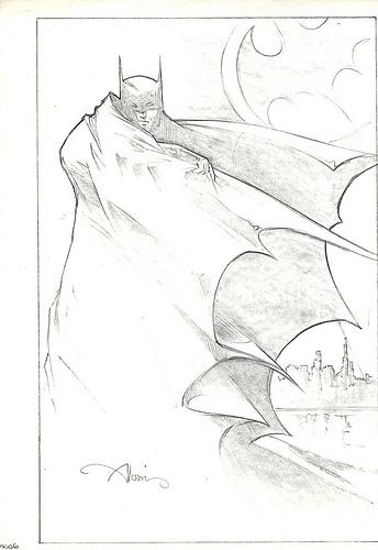 Batman original production concept art