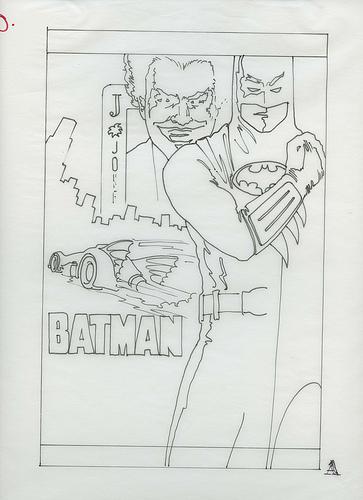 Batman and The Joker Concept Art