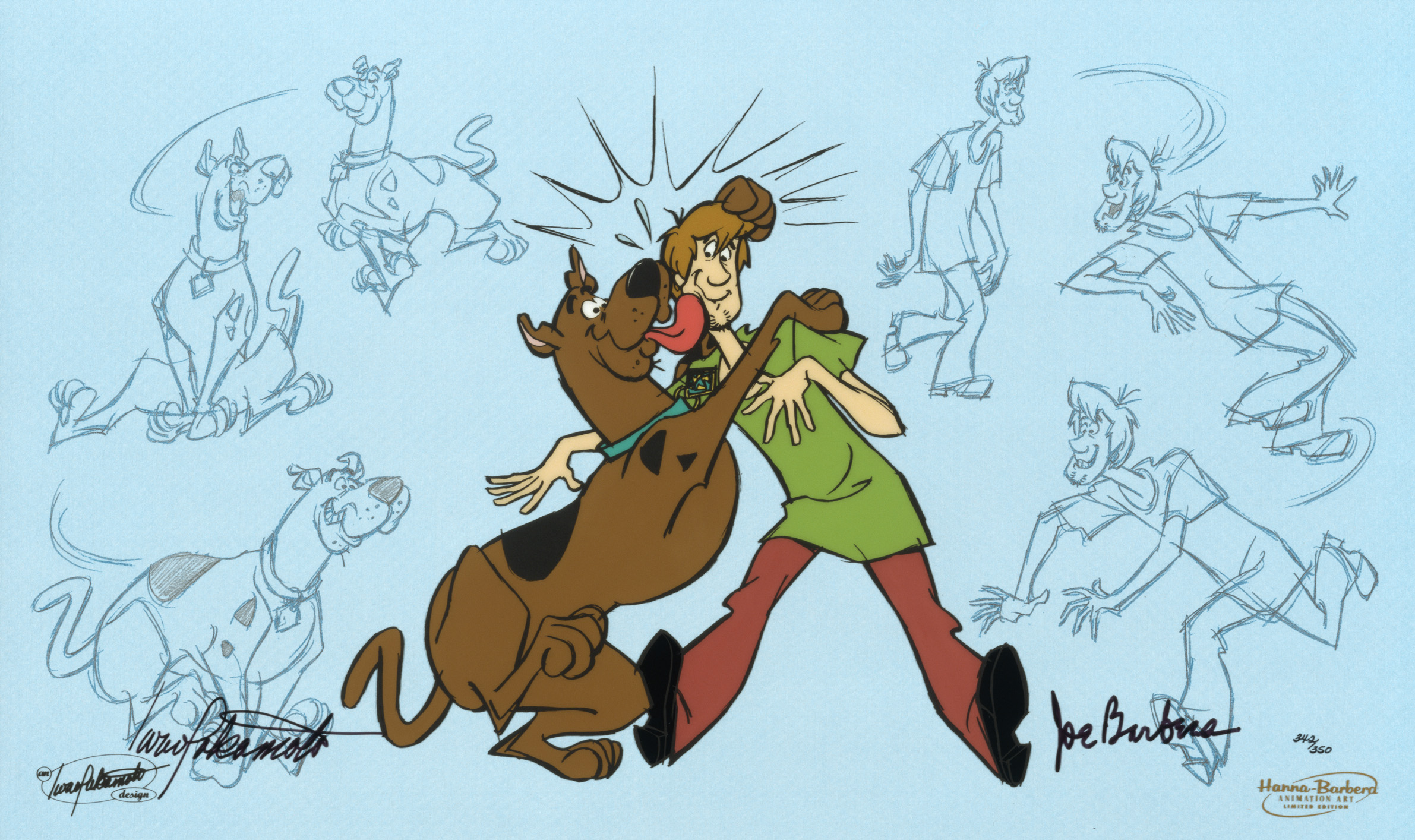 And Scooby-Doo ...  sc 1 st  ArtInsights & And Scooby-Doo Makes Two Hand-painted Limited Edition cel from Hanna ...