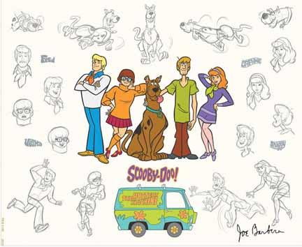 The Mystery Machine Gang and Scooby Doo Model Sheet available at ArtInsights