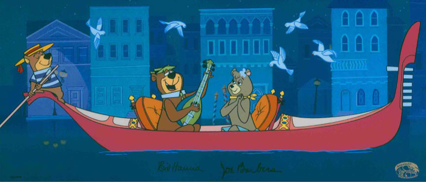 Hey There, It's Yogi Bear! Hand-painted Limited Edition Cel from Hanna  Barbera