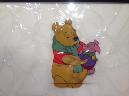 Winnie the Pooh double laminated cel in bad shape...