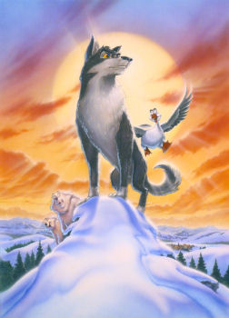 Balto Presentation Finished Full Color Concept Art By John