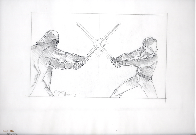 Star Wars Luke Skywalker vs. Darth Vader by John Alvin