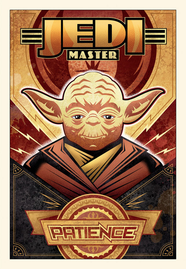 "This ""Patience"" Jedi Master Star Wars limited edition by Mike Kungl is a reminder we've waited all year for The Last Jedi!"