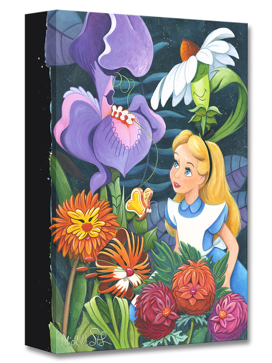 A Conversation with Flowers by Michelle St. Laurent Treasures on Canvas Disney Fine Art gift idea for $125