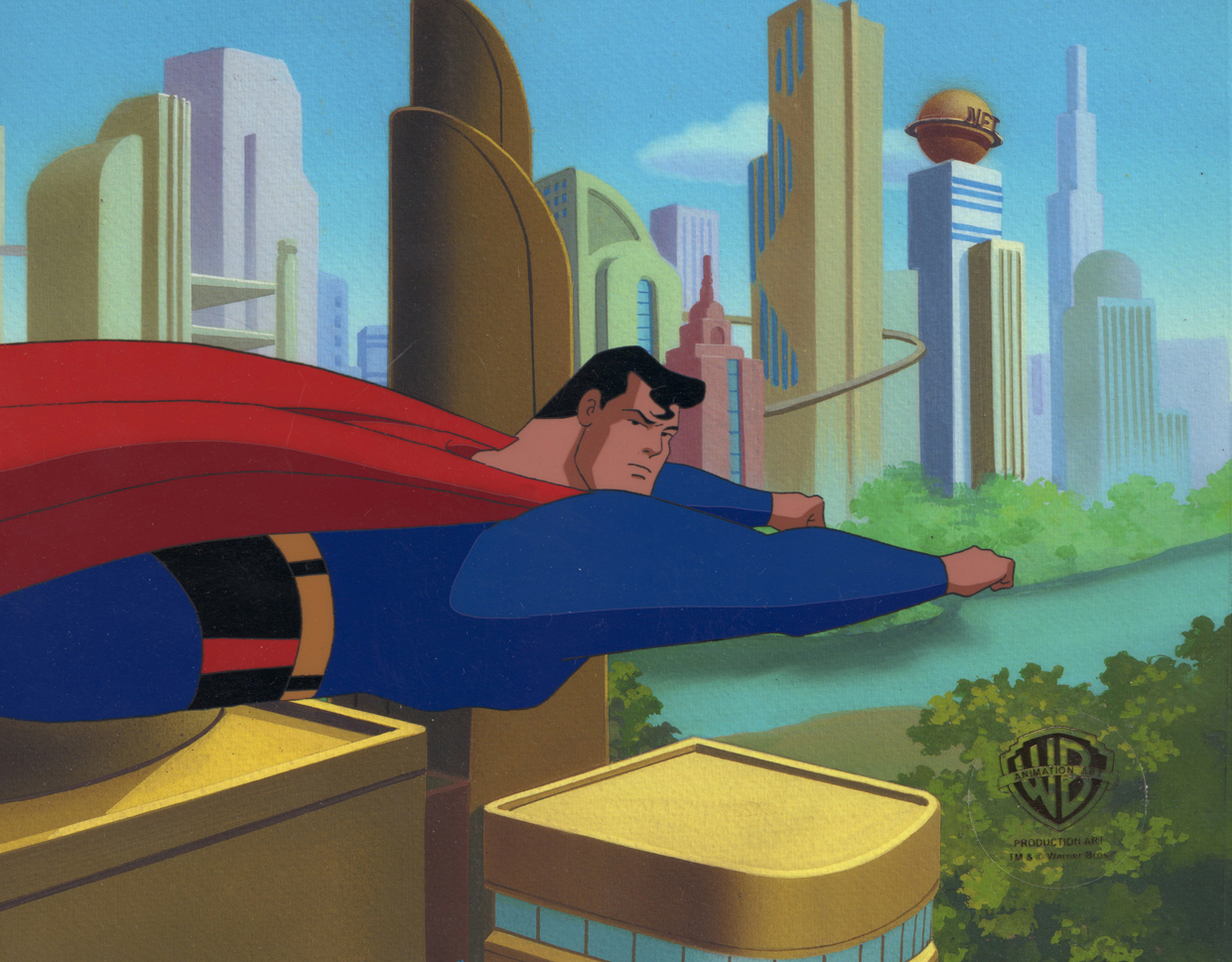 "Superman Flying ""Identity Crisis"" Original Production Cel"