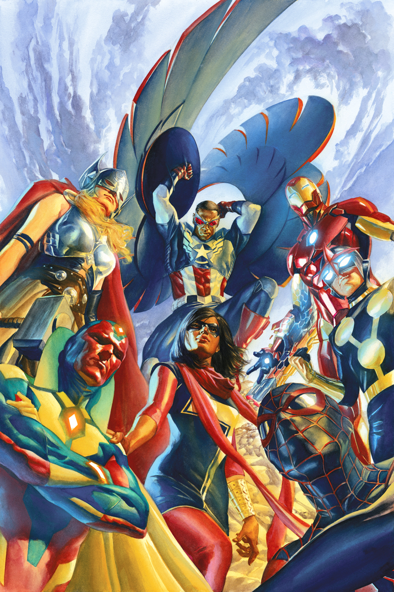 All New All Different Avengers Marvel Art by Alex Ross last minute gift idea $150