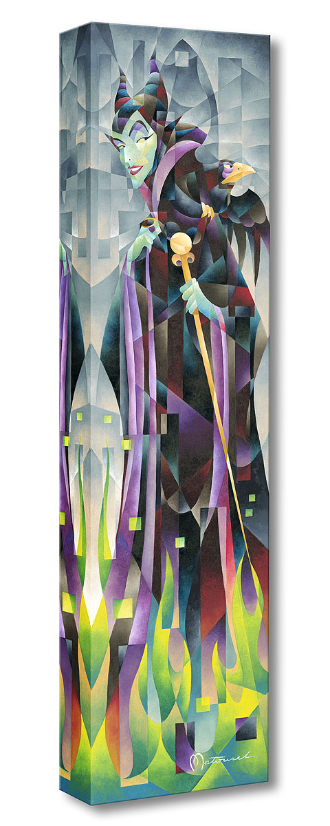Flames of Maleficent Treasures on Canvas by Tom Matousek