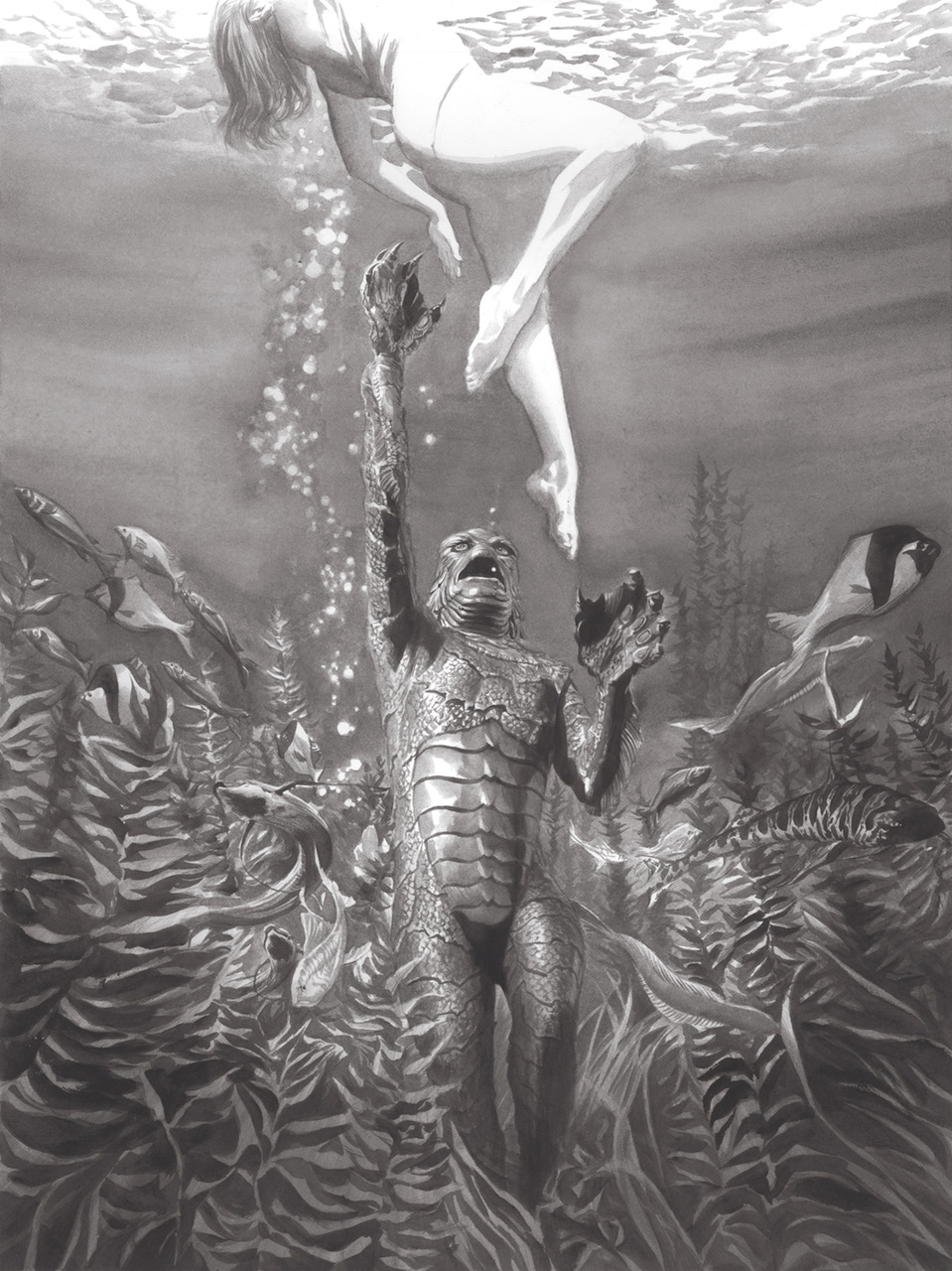 f4e845be6bc Creature From the Black Lagoon Universal Monsters Giclee on Canvas by ...