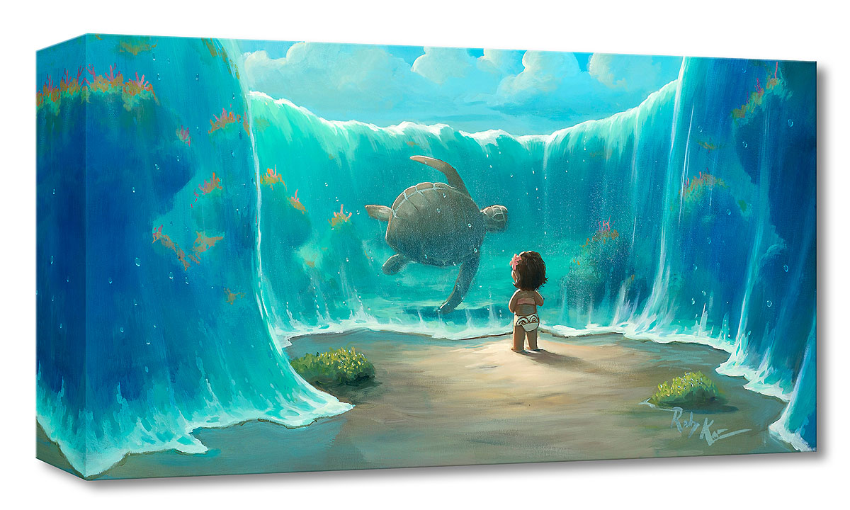 Moana's New Friend Treasures on Canvas by Rob Kaz $125