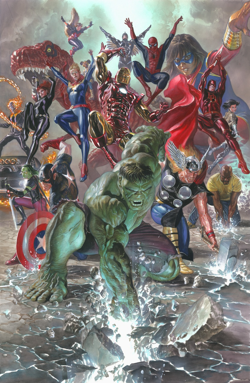 Marvel Legacy Giclee on Canvas by Alex Ross