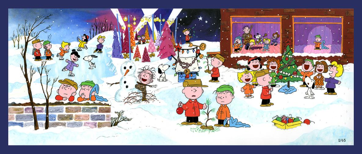 "The work-intensive A Charlie Brown Christmas limited edition art created for the anniversary called ""50 Years of Joy and Wonder"""
