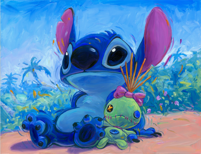 Hanging with Scrump Stitch from Lilo and Stitch Giclee by William ...