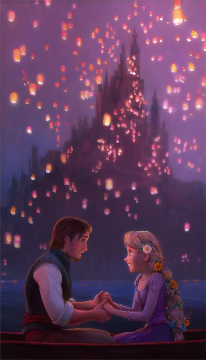 Lanterns Rapunzel Artist Proof Giclee On Canvas By William Silvers