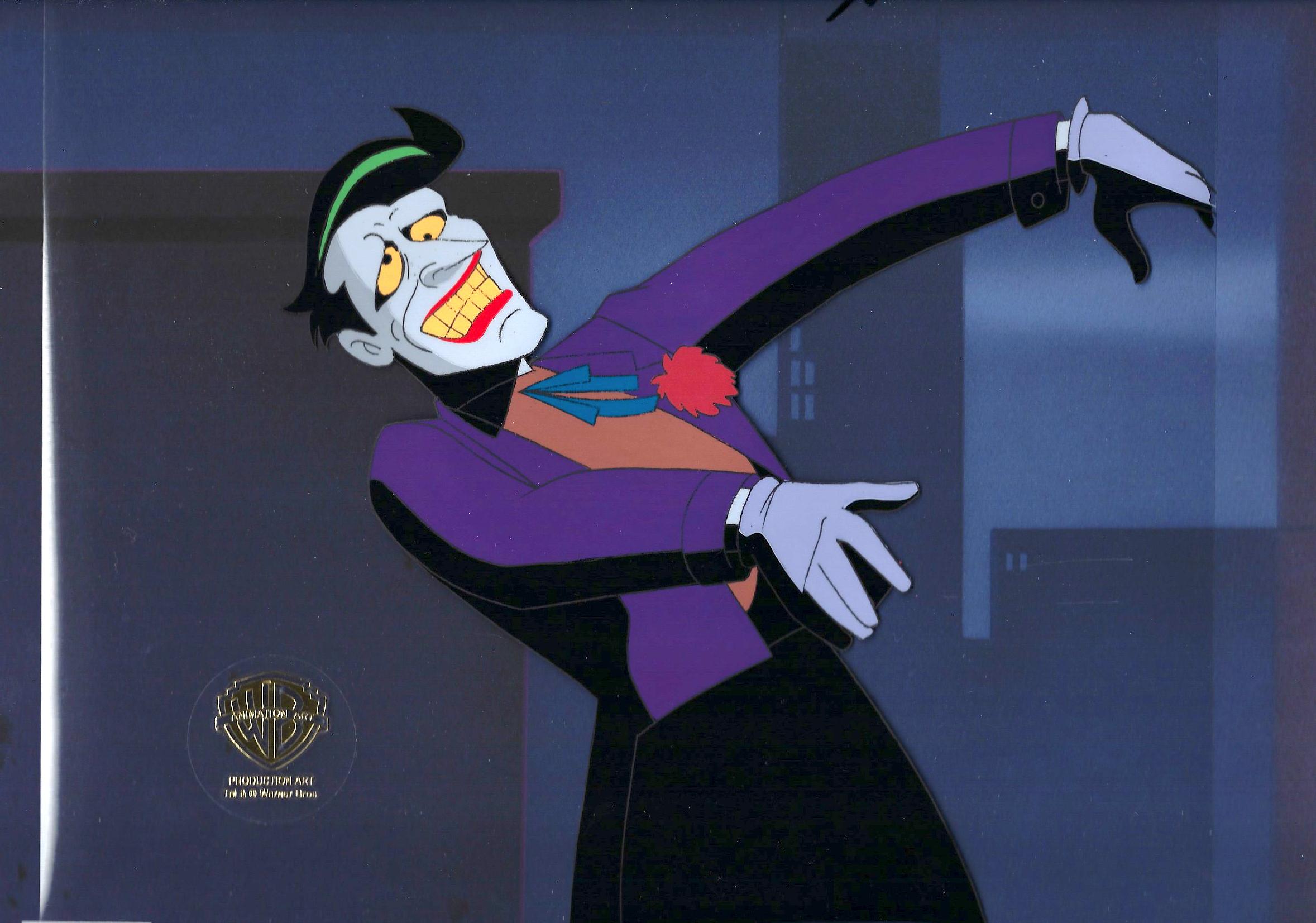 Joker Original Production Cel From Batgirl Returns Batman The Animated Series