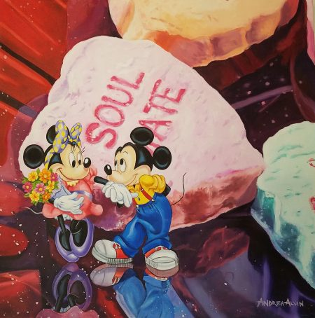 Mickey and Minnie celebrate their love in Andrea Alvin's Soulmates