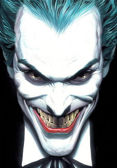 Portraits Of Villainy Joker Giclee Nycc 2019 Premiere On Canvas By Alex Ross